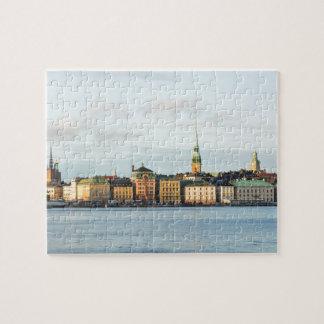 Gamla Stan in Stockholm, Sweden Jigsaw Puzzle