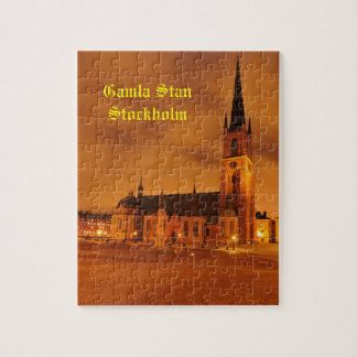 Gamla Stan in Stockholm, Sweden Jigsaw Puzzle