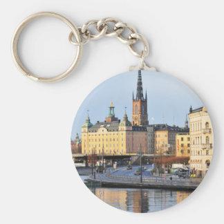 Gamla Stan in Stockholm, Sweden Keychain