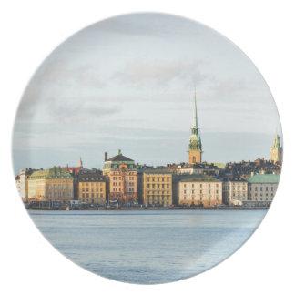Gamla Stan in Stockholm, Sweden Plate