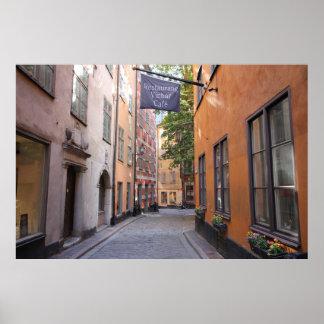 Gamla Stan, Stockholm, Sweden; Pastels Cobblestone Poster