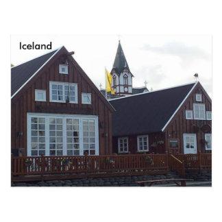 Gamli Baukur and Húsavík Church, Iceland Postcard