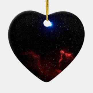 Gamma Cassiopeiae Ceramic Heart Ornament