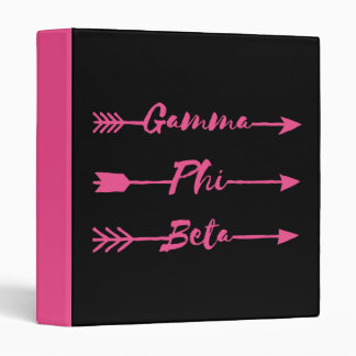 Gamma Phi Beta Arrow Vinyl Binders