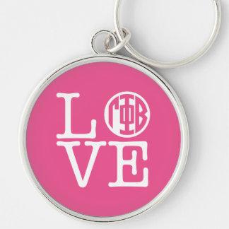 Gamma Phi Beta Love Keychain