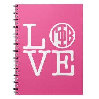 Gamma Phi Beta Love Notebook