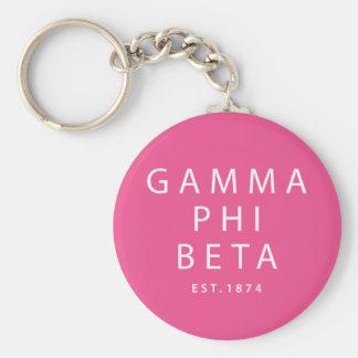Gamma Phi Beta Modern Type Keychain