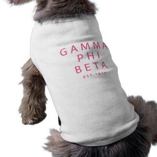 Gamma Phi Beta Modern Type Shirt