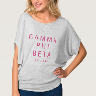 Gamma Phi Beta Modern Type T-Shirt