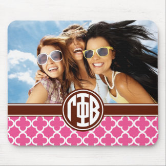 Gamma Phi Beta | Monogram and Photo Mouse Pad