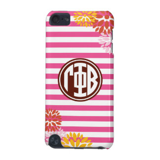 Gamma Phi Beta | Monogram Stripe Pattern iPod Touch (5th Generation) Covers