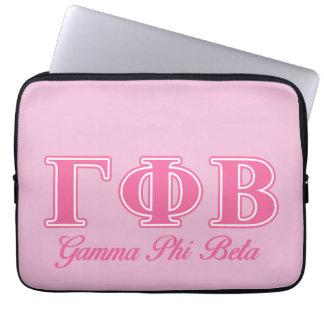 Gamma Phi Beta Pink Letters Laptop Sleeve