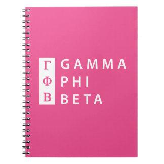 Gamma Phi Beta Stacked Notebook