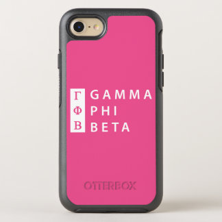 Gamma Phi Beta Stacked OtterBox Symmetry iPhone 8/7 Case