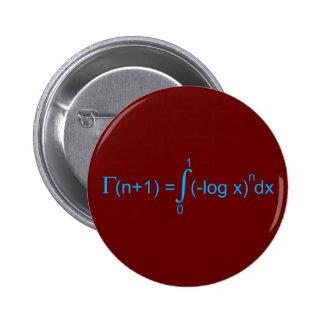 Gammafunktion Gamma function Anstecknadelbuttons