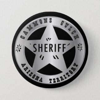 Gammons Gulch Sheriffs Badge 3 Inch Round Button