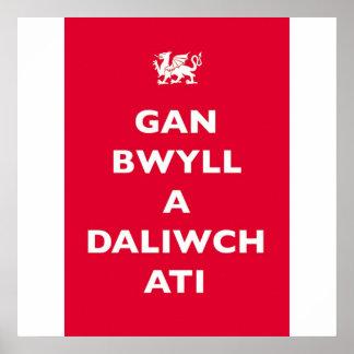 GAN BWYLL A DALIWCH ATI POSTER