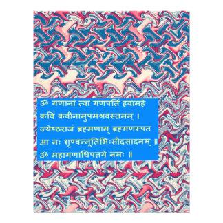 Ganapati Ganesha Sanskrit Mantra Prayer Peace Gift Personalized Letterhead