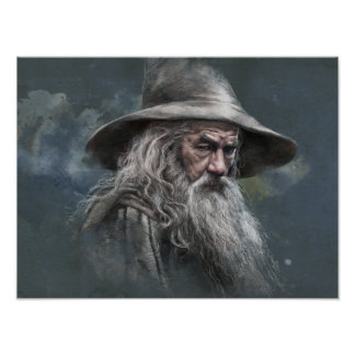 Gandalf Illustration Poster