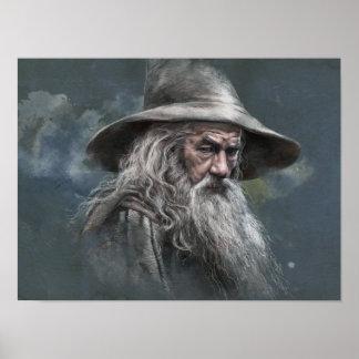 Gandalf Illustration Poster