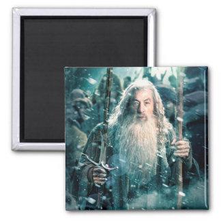 Gandalf The Gray Square Magnet