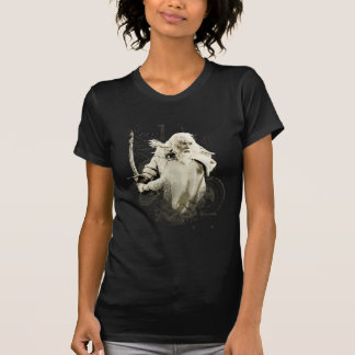 Gandalf with Sword Vector Collage T Shirt