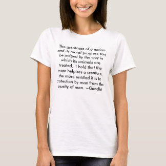 Gandhi Animals Kindness Peace Shirt