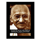 Gandhi 'Eye for an eye' wisdom quote postcard