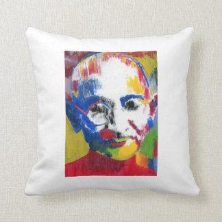 Gandhi face of colors Pillow