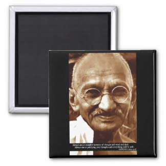 Gandhi 'Harmony of thought' wisdom quote magnet