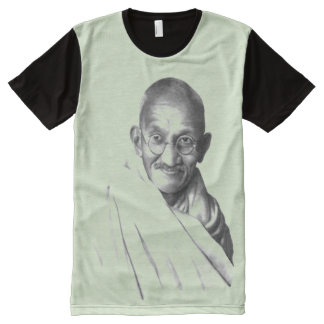 Gandhi: Indpendence and Nonviolence All-Over-Print T-Shirt