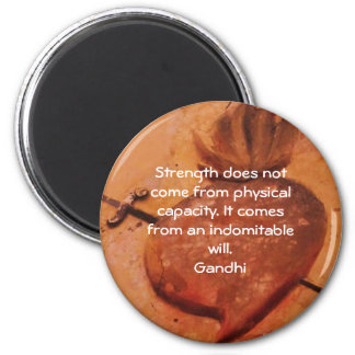 Gandhi Inspirational Motivational Quotation 2 Inch Round Magnet