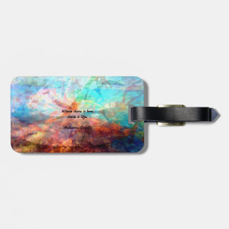 Gandhi Inspirational Quote about Love, Life & Hope Bag Tag