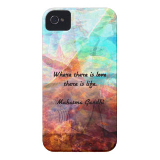 Gandhi Inspirational Quote about Love, Life & Hope iPhone 4 Case