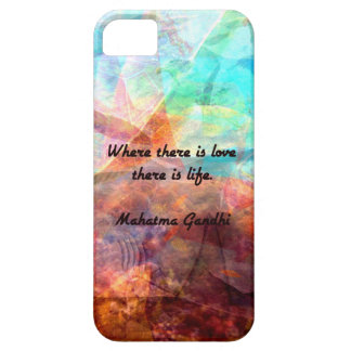 Gandhi Inspirational Quote about Love, Life & Hope iPhone 5 Covers