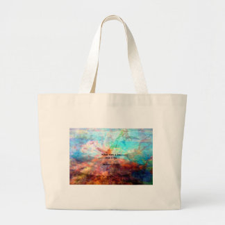 Gandhi Inspirational Quote about Love, Life & Hope Large Tote Bag