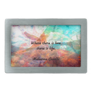 Gandhi Inspirational Quote about Love, Life & Hope Rectangular Belt Buckle