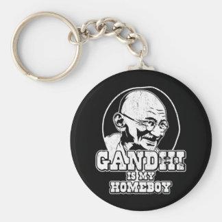 Gandhi is my Homeboy Basic Round Button Keychain
