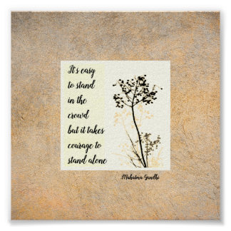 Gandhi motivational quote poster on nature art