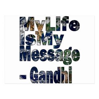 Gandhi Qoute Postcard