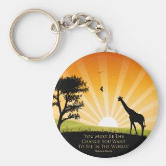 Gandhi Quote Basic Round Button Keychain