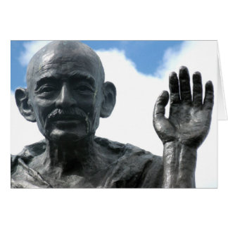 Gandhi quote card - Be the change...