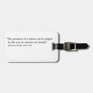Gandhi Quote Luggage Tag