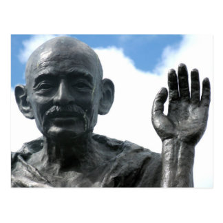 Gandhi Statue Postcard - Strength Quote