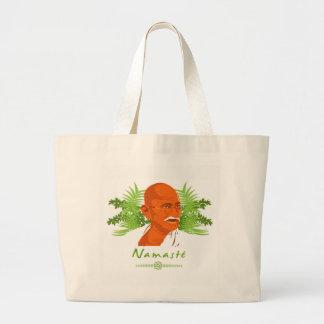 Gandhi stock market large tote bag