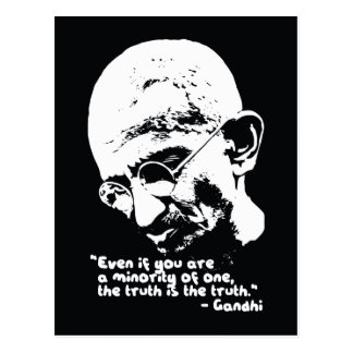 Gandhi '..the truth is the truth' Quote Postcard