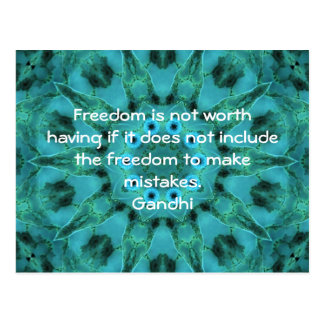 Gandhi Wisdom Quotation Saying about Freedom Postcard