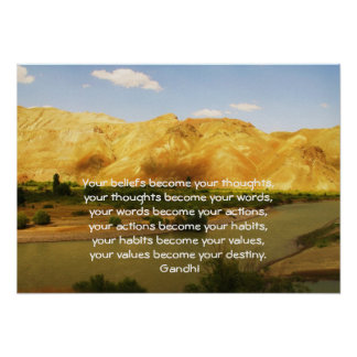 Gandhi Wisdom Saying Quotation About  Destiny Poster