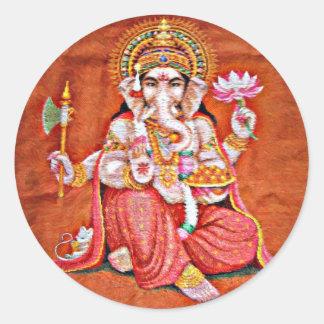 Ganesh Art Round Sticker