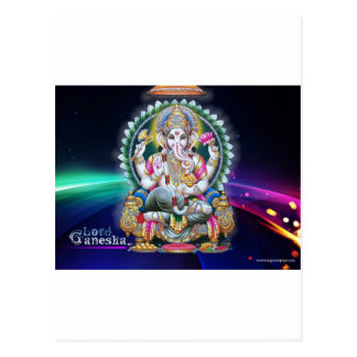 GANESH AURA BLESSINGS POSTCARD
